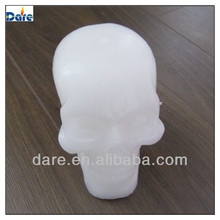 LED Graveyard memorial Skull real wax candle