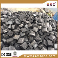 Dark grey natural river stone