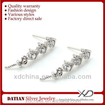XD E031 925 sterling silver stud earring post sterling silver earring