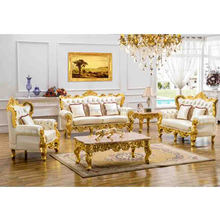 KB018 luxury european classical sofa set, wood carving sofa set,gold plated living room furniture