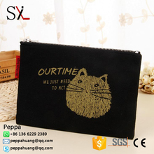 High Quality Plain Canvas Cosmetic Bag