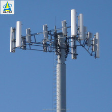 15 20 22 25 28 30 35 40 42 45 48 50 meter 80 feet 80ft steel Cell 4g antenna base station mast monopole tower
