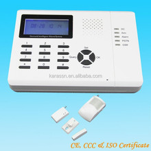 Professional home security products supplier in China, PSTN+GSM alarm system with smoke detector and door sensor
