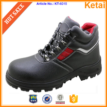 Fashion upper design mens steel toe cap safety shoes anti- punctual, anti- slip, oil resistant function