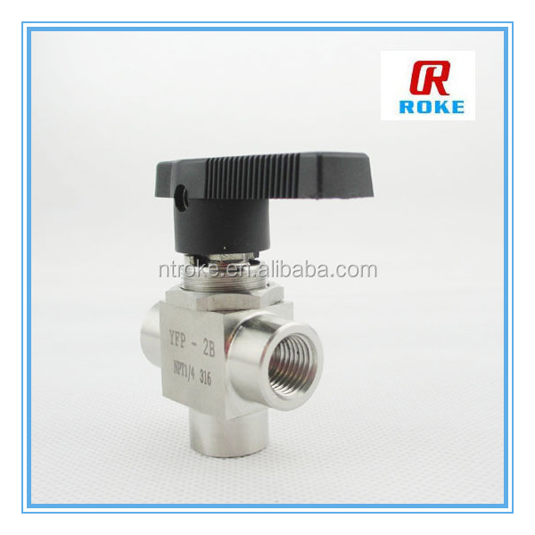 "stainless steel 3000 psi 1/4"" female npt three way cng valve"