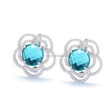 Rose Flower Earrings Costume Jewelry Thailand Fashion Jewellery