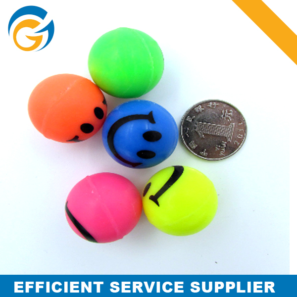 Colorful Smiling Face Bouncing Ball 32mm for Vending Machine