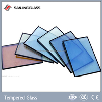 Red tempered glass