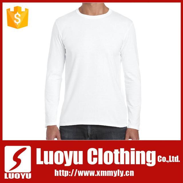 Bulk plain white t shirts long sleeve t shirt