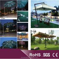Patio Umbrella with LED Lights and Wireless Bluetooth Speaker to Relax