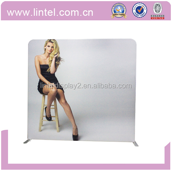 Popular Exhibit Tension Fabric Trade Show Booth Portable Display Stand
