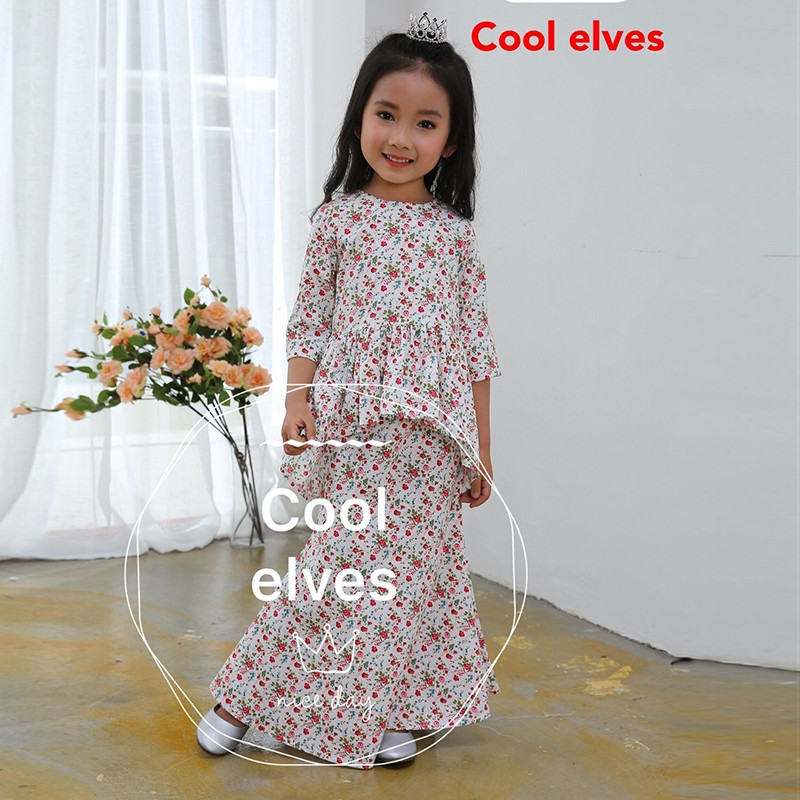 2017 Boutique Girls Clothing Baby Girl Floral Pattern Cotton Formal Dress MLZ106