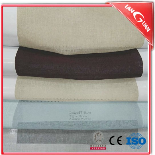 Fashion 100% polyester voile terylene /satin sheer window curtain fabric