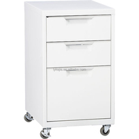 High Quality Low Office Wall Mounted Steel Mobile Filing Cabinet 3 Drawer Storage Mobile Pedestal Cabinet