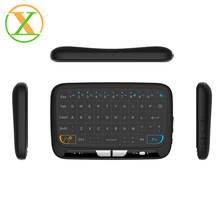 factory newest 2.4g air mouse backlit H18 wireless keyboard with touchpad