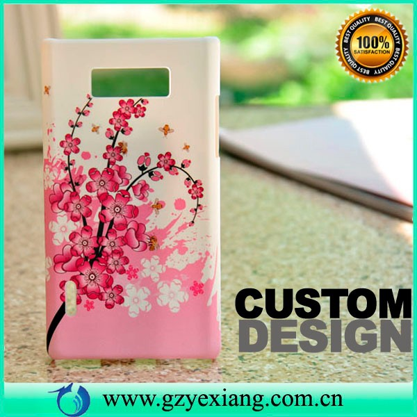 Mobile phone design back case cover for lg p705 optimus l7 p700