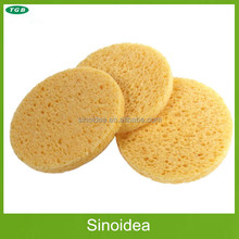 Natural Compressed Round cellulose sponge for face cleaning