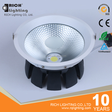 Aluminum radiator 10W 3.5inch COB downlight led flush mounted ceiling light 105mm cut out