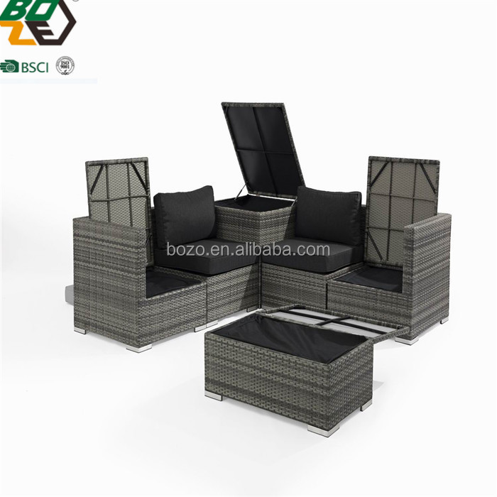 Natural 4pcs PE Rattan WIcker Outdoor Furniture Garden Sofa Sets Supplier