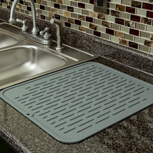 kitchen accessories silicone dish drying sink mat