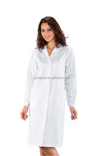 White Cotton Doctor's Gown For OEM Unisex medical lab coat