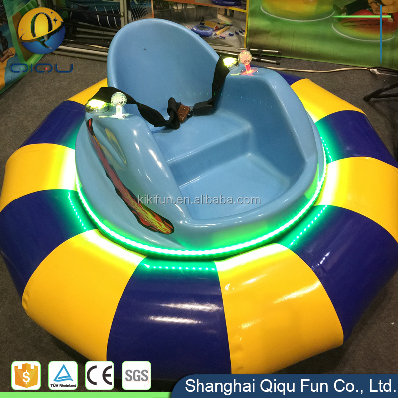 QIQU Fun lovely hottest electric bumper car for amusement park / use two seater 24V battery powered kids UFO bumper cars on ice