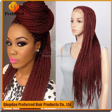 Alibaba China Super Quality Micro Braiding Synthetic Lace Front Wig