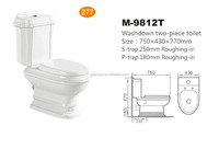M9812T Two piece classical ceramic cheap wc toilet sanitary made in china