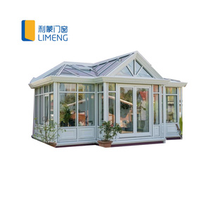 Energy Saving european style Aluminium curved glass lowes Sunrooms