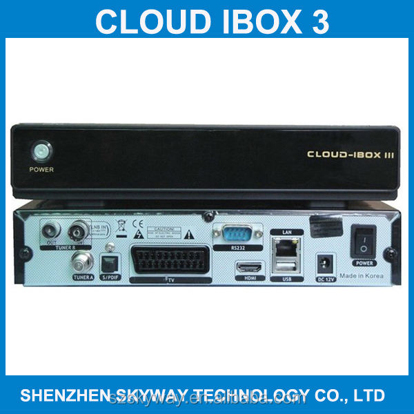 2014 Cloud ibox 3 Twin Tuner Enigma 2 Linux HD Decoder Cloud ibox3 Receiver DVB S / S2 + T2 /C Cloud Ibox iii Decoder Samsat HD