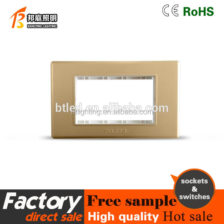 118 gold Wiredrawing four gang mk wall switch 2 position