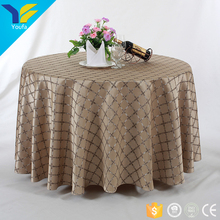 Guangzhou jacquared round wedding tablecloth dining table cover