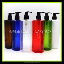 16oz Blue/ Transparent/ Green pet plastic bottle for hair care and skin care liquid 500ml pump spray bottle