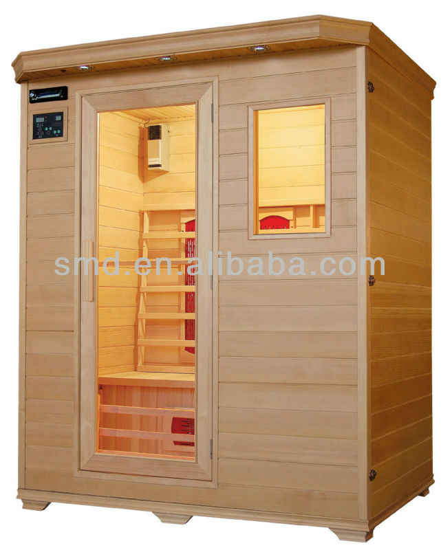 smartmak Wood living room furniture design 3 persons home health spa infrared Sauna room with CE ROHS