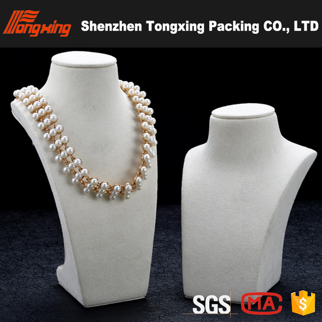 High end neck model necklace bust jewelry display stand