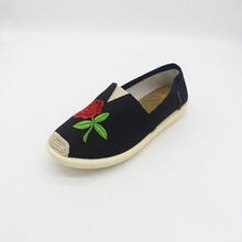 Embroidery Canvas Casual Shoes for Women with Cheap Price Tom Shoes