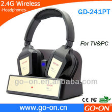 GD-241 2.4G Double Wireless TV Headphones