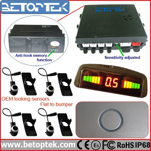 OEM-Look Waterproof Led DIsplay Car Blind Spot Sensor Easy to Install