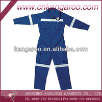 35%cotton,65%poly Mens Coverall workwear; High Visibility Safty coverall; EN471 Standard Coverall one piece workwear