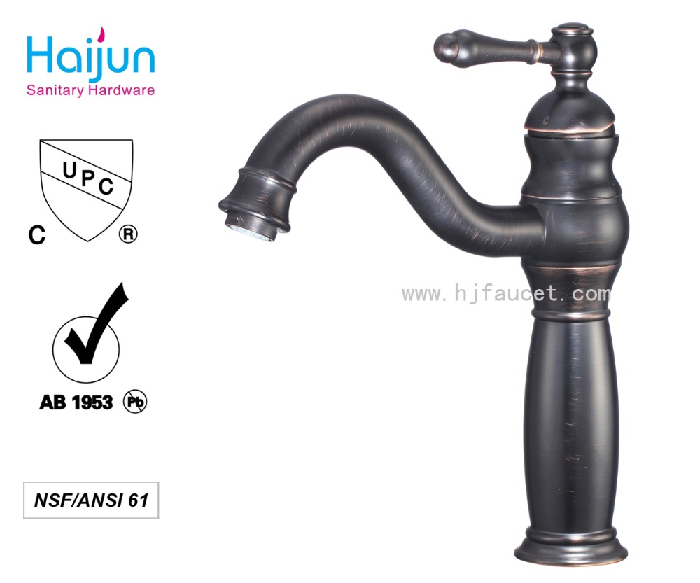 China UPC Black Oil rubbed brush faucet antique faucet style