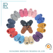 2017 Hot Selling New Design Multiple Color Options Suede Baby Shoes