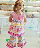 wholesale children boutique clothing children clothing manufacturers china chevron ruffle girls boutique clothing