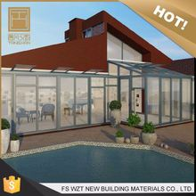 Alibaba gold supplier high quality sunrooms glass house/greenhouse