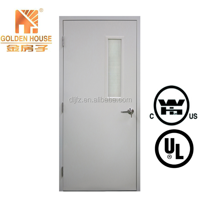 FM/WHI listed commercial metal door with metal frame