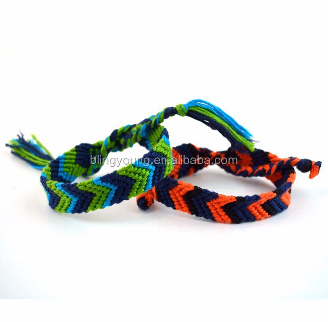 Yiwu jewelry cotton woven friendship bracelet