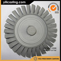 140kg thrust vacuum casting rc jet engine parts axial turbine wheel