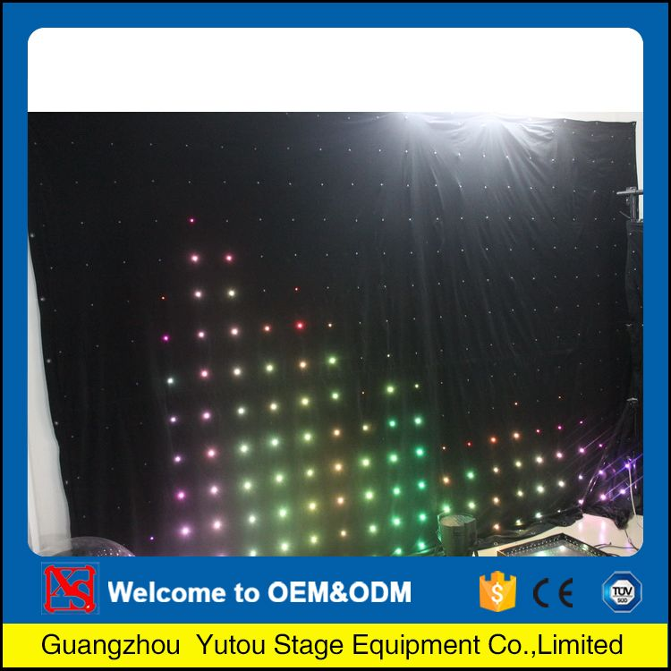 Guangzhou factory competitive led star ceiling light curtains