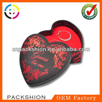 Heart-Shaped Plastic Jewelry Box