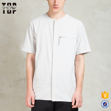 Wholesale custom cotton summer wear latest new model shirts collarless shirt mens