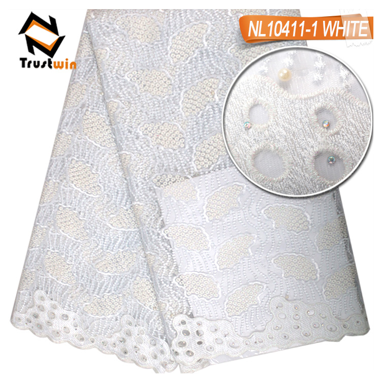 Wholesale price embroidery beaded tulle lace fabric for evening dressing